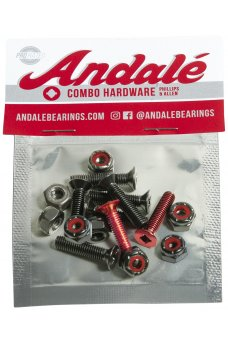 """Andale - Combo Hardware 7/8"""" Red"""