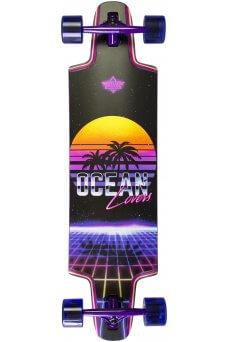 """Dusters - Ocean Lovers Purple 36""""x 9.5""""- Wheel Base 29.0""""- 180mm Slant Truck - 71x52mm 78A"""