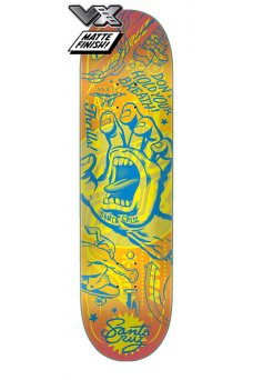 Santa Cruz - Team Flash Hand VX Deck 8.25in x 31.8in Santa Cruz