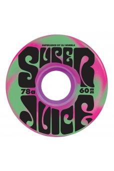 OJ - 60mm Super Juice Pink Green Swirl 78a OJ