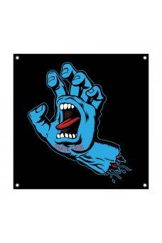 Santa Cruz - Screaming Hand Color Banner Vinyl Black 36in x 36in