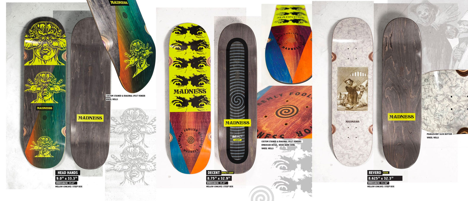 Madness Skateboards le prime tavole